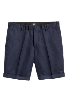 Shorts chinos in misto lino